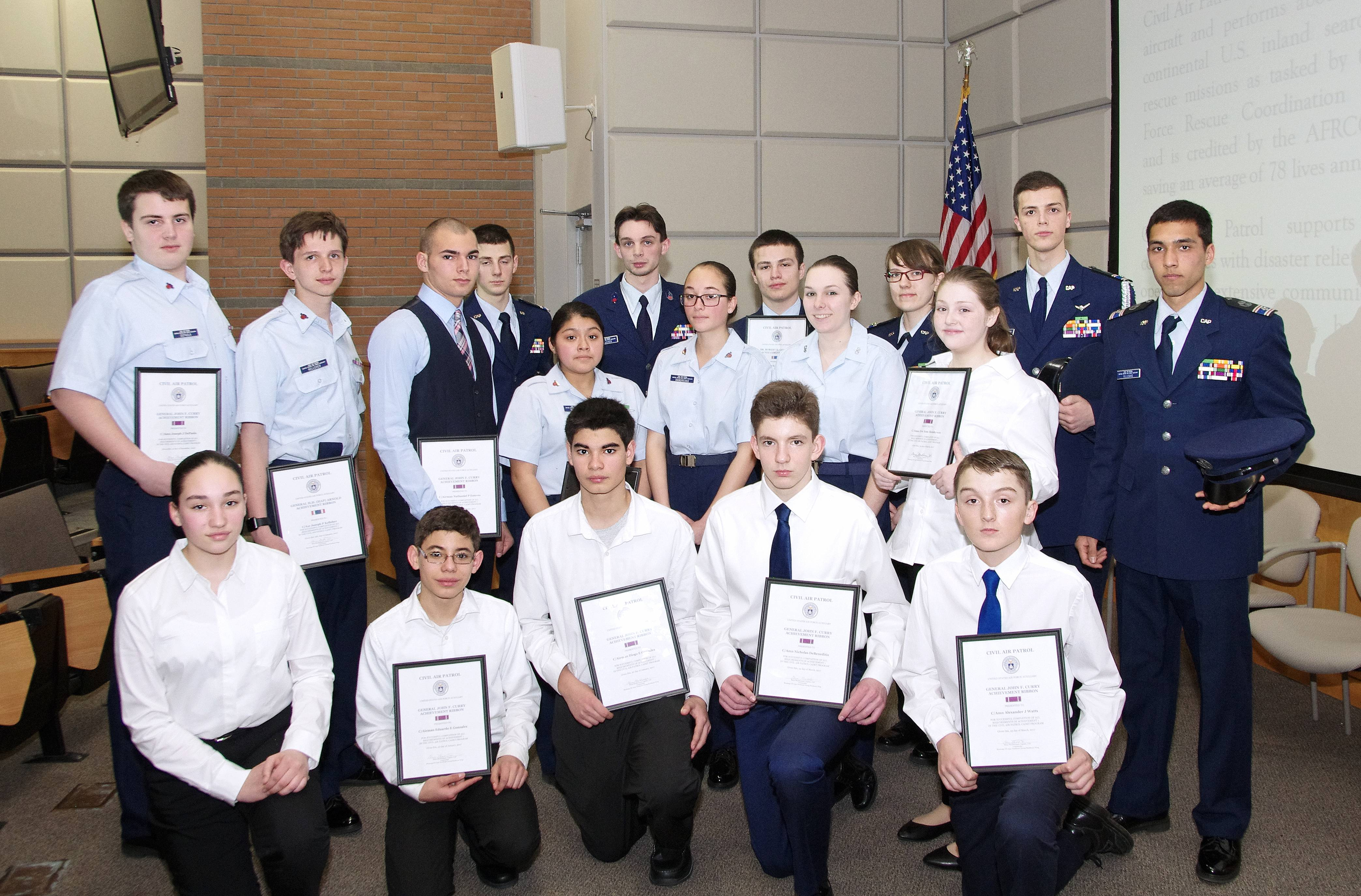 Cadet group photo at the 2017 Four Winds Ceremony